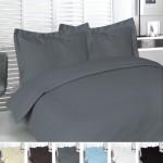 Utopia Bedding Queen 3pc Duvet Set 100% Cotton – Grey