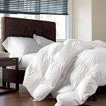 LUXURIOUS 1200 Thread Count GOOSE DOWN Comforter , Queen Size, 1200TC – 100% Egyptian Cotton Cover, 750 Fill Power, 50 Oz Fill Weight, White Color