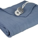Sunbeam Quilted Fleece Heated Blanket, Twin, Lagoon, BSF9GTS-R596-13A00