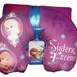 Disney Frozen Anna, Elsa, Sisters Forever Travel Neck Pillow & Blanket Throw Set Gift
