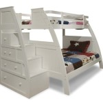Canwood Overland Bunk Bed with Built-In Stairs Drawers, Twin Over Full, White