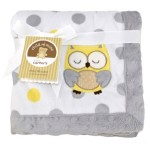 Child of Mine Treetop Friends Owl Baby Valboa Blanket – 30″ x 40″