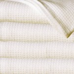 Sun Yin 100-Percent Cotton King Blanket, Ivory