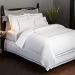 Pinzon Hotel Stitch 400-Thread-Count 100-Percent Egyptian Cotton Sateen Duvet Cover, Full/Queen, White with Silver Grey Stripes