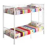 Walker Edison Twin-Over-Twin Bunk Bed, White