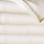 Sun Yin 100-Percent Cotton King Blanket, Ivory