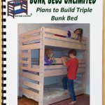 Triple Bunk Woodworking Plan to Build Your Own and Hardware Kit that Sleeps Three (Wood NOT Included)