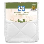 Sealy Natural Cotton Crib Mattress Pad, 52″ X 28″