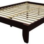 Epic Furnishings Copenhagen All Wood Platform Bed Frame, King, Mahogany