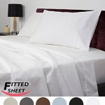 Utopia Bedding Queen Fitted sheet 200 Thread Count 100% Cotton – White