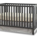 Stork Craft Hillcrest Fixed Side Convertible Crib, Gray