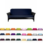 Magshion@Futon Cover Slipcover (Navy Blue, Full (54×75 in.))