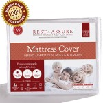 Queen Size Instyle Furnishing Premium 100% Waterproof Mattress Protector, Hypoallergenic, Mattress Cover Protects Against Dust Mites, Allergens, Bacteria, Mold, Mildew, and Fluids, 10 Year Warranty