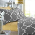 Pinzon 300-Thread-Count 100-Percent Cotton Lattice Duvet Cover Set, King, Platinum