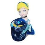 Disney Princess Cinderella Plush Pillow and Throw Blanket Set