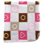 Luvable Friends Printed Fleece Blanket, Pink