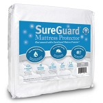 Twin Size SureGuard Mattress Protector – 100% Waterproof – Hypoallergenic – Breathable Soft Cotton Terry Cover – Blocks Dust Mites, Allergens, Mildew & Mold – Superior Quality – 30 Day Return Guarantee – 10 Year Warranty