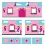 Dorel Home Products Curtain Set for Junior Loft Bed, Princess Castle