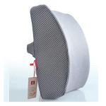 "Love Home Memory Foam 3D Ventilative Mesh Lumbar Support Cushion/ Back Cushion / Support Cushion helps the lumbar and sacral region of the spinal column & helps promote good posture while sitting- Excellent for home, office, car and wheelchairs- Size: 13.4""*12.6""*4"" (Gray)"