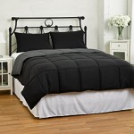 Cozy Beddings Reversible Down Alternative Comforter Set, Full/Queen, Black/Grey