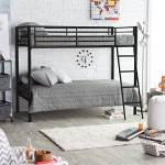 Duro Duro Chicago Twin over Twin Bunk Bed -, Black, Metal, Twin