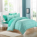 Chic Home Tina Printed Contemporary 3-Piece Duvet Cover Set, Queen, Turquoise