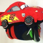 Cars Disney Pixar Throw & Pillow Set Blanket McQueen 95 Plush Toy