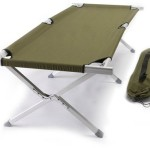 World Outdoor Products Military AIRCRAFT GRADE Aluminum Frame Cot Featuring 600 D Washable and Mildew Resistant Polyester Fabric with a LED Flashlight