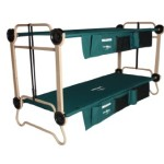 Disc-O-Bed Cam-O-Bunk Cot with Organizers and Leg Extensions, Large