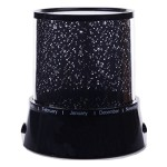 Generic Colorful Twilight Romantic Sky Star Master Projector Lamp Starry LED Night Light Kids Bedroom Bed Light for Christmas Light (Black)