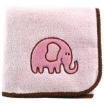 Hudson Baby Elephant Applique Fleece Blanket