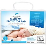 Universal Comfy Co Crib Mattress Protector Pad Made From Bamboo Viscose Fiber. This Product Comes With a FREE E-BOOK! The Perfect Waterproof, Easily Fitted & Quilted Bed Cover to Keep Your Baby Cool for the Best Night Sleep. Free from Latex, Lead, Phthalate, PVC and BPA. Luxuriously Silky Soft and Breathable, While Designed to Produce Minimal Sound as Your Sleepy Baby Moves Throughout the Night. Protects Your Mattress or Topper From Stains, While Remaining Odor Resistant. Prevents Bacteria, Dust Mites and Mold From Breeding in Your Child's Mattress. 100% Satisfaction Best Lifetime Guarantee! SPECIAL TODAY! FREE E-BOOK WITH EVERY ORDER!