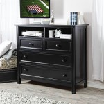 Fashion Bed Group Casey Media Chest -, Black, Solid Wood / Veneer