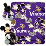 NFL Minnesota Vikings Mickey Mouse Pillow with Fleece Throw Blanket Set