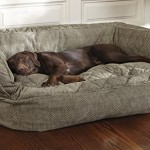 Orvis Lounger Deep Dish Dog Bed / Medium Dogs Up To 60 Lbs., Herringbone