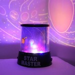 Innoo Tech LED Night Light Lamp Projector Amazing Globe Cosmos Star Master for Children's Bedroom Decoration Kids' Christmas Gift with USB Black