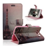 TRURENDI Vintage Retro Paris France Eiffel Tower Girls Cute Animal Painted Art Series PU Leather Wallet Type Magnet Design Flip Case Cover Credit Card Holder Pouch Case for Samsung Galaxy S3 III I9300 (Night Eiffel Tower) (multi)