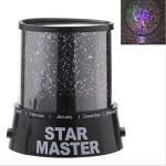 Eallc Brand New Colorful Twilight Romantic Sky Star Master Projector Lamp Starry LED Night Light Bed Light for Kids Bedroom Home Decoration Us Delivery (black)