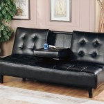 Milton Greens Stars 7502 Verano Futon Sofa Bed with Cup Holder, Black