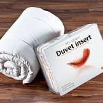 Hospitology Heavenly Microfiber Goose Down Alternative Duvet Insert/Comforter, Orange Border, 82-Inch by 86-Inch, Full / Double
