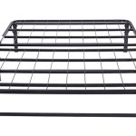 Merax Platform Metal Bed Frame and Mattress Foundation Adjustable Box Spring Steel Bed Frame (Full)