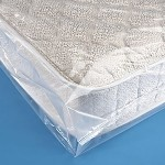 CRESNEL 4-Mil QUEEN SIZE Commercial Heavy Duty / Super Strong Clear Mattress Plastic Bag Cover Sheet Fits Standard, Extra Long, Top Pillow, Extra Large QUEEN