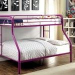 Furniture of America Non-Recycled Metal Bunk Bed, Twin Over Full, Purple