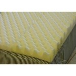 Foam Eggcrate Mattress Overlay – Size Queen – 56″ x 72″ x 2″