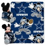 NFL Dallas Cowboys Mickey Mouse Pillow with Fleece Throw Blanket Set