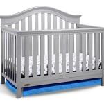 Graco Bryson 4-in-1 Convertible Crib, Pebble Gray