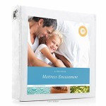 LINENSPA Zippered Encasement Waterproof, Dust Mite Proof, Bed Bug Proof Breathable Mattress Protector – Queen Size