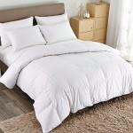 Puredown White Down Comforter-King/Cal King-Cotton Shell 500TC-Stripe White