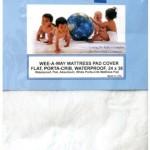 Colgate Wee-A-Way Waterproof Flat Portable Crib/Mini Crib Mattress Cover, White