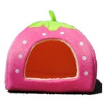 Strawberry Small Cotton Soft Dog Cat Pet Bed House S/m/l/xl (Pink, S)